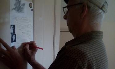 Michael signing Studio M* Manifesto